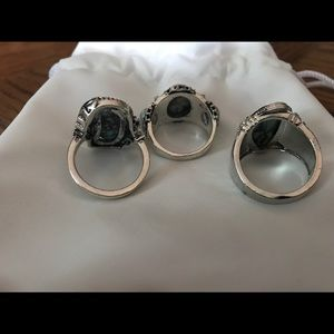 Jewelry - One group of (7) silver turquoise Rings & earrings